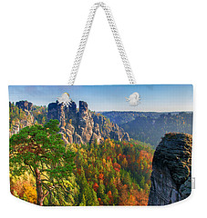 After The Sunrise On The Bastei Weekender Tote Bag