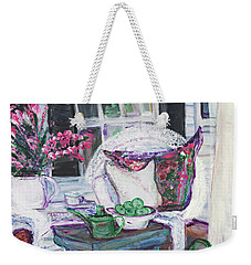 Afternoon At Emmaline's Front Porch Weekender Tote Bag by Helena Bebirian