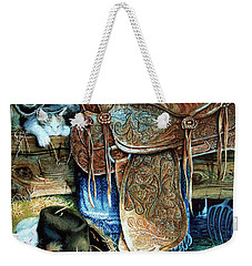 Weekender Tote Bag featuring the painting Afternoon Delight by Hanne Lore Koehler