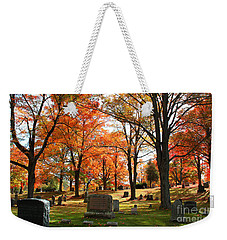 Afternoon Sun In The Cemetery Weekender Tote Bag by Rita Brown