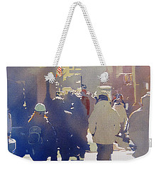 Against The Light Weekender Tote Bag