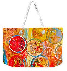 Against The Rain Abstract Orange Weekender Tote Bag