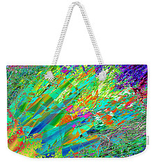 Weekender Tote Bag featuring the digital art Agave Explosion by Stephanie Grant