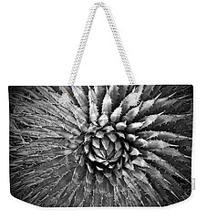 Agave Spikes Black And White Weekender Tote Bag