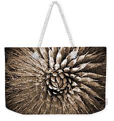 Agave Spikes Sepia Weekender Tote Bag