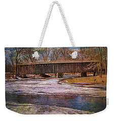 Aged Covered Bridge  Weekender Tote Bag by Susan  McMenamin
