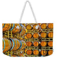 Aging Wine Barrels Weekender Tote Bag by Richard J Cassato
