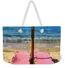 Agrari Beach In Mykonos Island Weekender Tote Bag