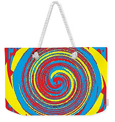 Weekender Tote Bag featuring the digital art Aimee Boo Swirled by Catherine Lott