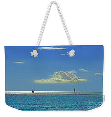 Weekender Tote Bag featuring the photograph Air Beautiful Beauty Blue Calm Cloud Cloudy Day by Paul Fearn