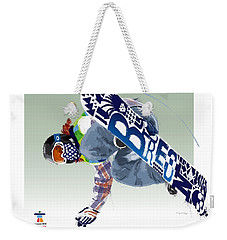Weekender Tote Bag featuring the digital art Air Born For Gold by Scott Weigner
