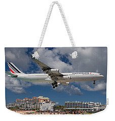 Air France Landing At St. Maarten Weekender Tote Bag