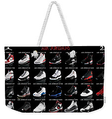 Air Jordan Shoe Gallery Weekender Tote Bag by Brian Reaves