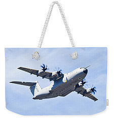 Weekender Tote Bag featuring the photograph Airbus A400m by Maj Seda