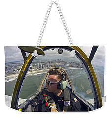 Airman Fliesin A Yakovlev Yak-52 Weekender Tote Bag by Stocktrek Images
