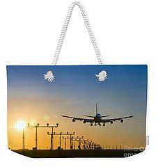Airplane Landing At Sunset, Canada Weekender Tote Bag