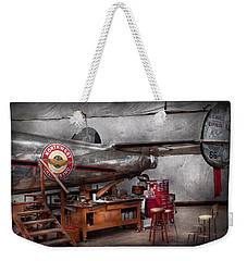 Airplane - The Repair Hanger  Weekender Tote Bag by Mike Savad
