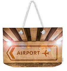 Airport Directions Weekender Tote Bag by Semmick Photo