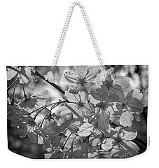Akebono In Monochrome Weekender Tote Bag by Peggy Hughes