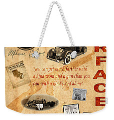 Al Capone Weekender Tote Bag by Andrew Fare