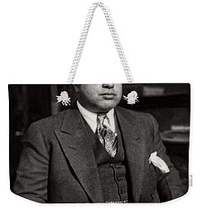 Al Capone - Scarface Weekender Tote Bag by Doc Braham