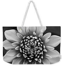 Ala Mode Dahlia In Black And White Weekender Tote Bag