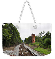 Weekender Tote Bag featuring the photograph Alabama Tracks by Verana Stark
