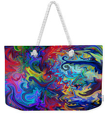 Weekender Tote Bag featuring the digital art Aladdin's Lamp by Peggy Collins