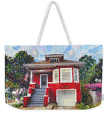 Colonial Revival High Basement Cottage 1907  Weekender Tote Bag