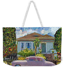 Alameda 1908 House 1950 Pink Dodge Weekender Tote Bag