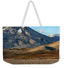 Weekender Tote Bag featuring the photograph Alaska Landscape Scenic Mountains Snow Sky Clouds by Paul Fearn