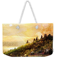 Alaska Montage Weekender Tote Bag by Ann Lauwers