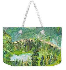 Alaska  Mountain Range Weekender Tote Bag