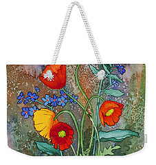 Alaska Poppies And Forgetmenots Weekender Tote Bag