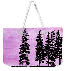 Weekender Tote Bag featuring the drawing Colorful - Alaska - Sunset by D Hackett
