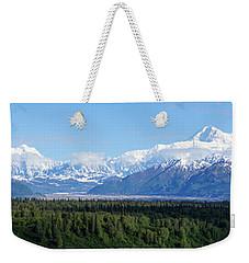 Alaskan Denali Mountain Range Weekender Tote Bag by Jennifer White