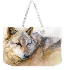 Alaskan Gray Wolf Weekender Tote Bag