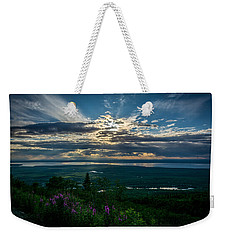 Alaskan Summer Sunset Weekender Tote Bag