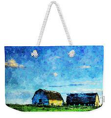 Alberta Barn At Sunset Weekender Tote Bag