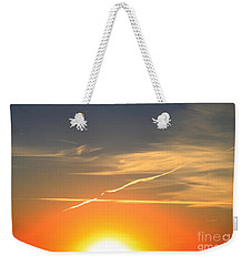 Alberta Sunset Weekender Tote Bag by Alyce Taylor