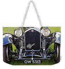 Weekender Tote Bag featuring the photograph Alfa Romeo 8c 2300 Brianza 1934 by Maj Seda
