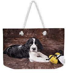 Weekender Tote Bag featuring the photograph Alfred by Alana Ranney