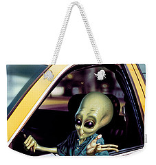 Alien Cab Weekender Tote Bag by Steve Read