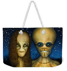 Alien Couple Weekender Tote Bag by James Larkin