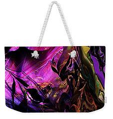 Weekender Tote Bag featuring the digital art Alien Floral Fantasy by David Lane