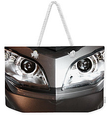 Alien Headlights  Can Am Spyder Motorcycle Weekender Tote Bag