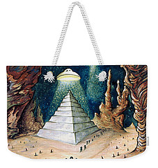 Alien Invasion - Space Art Painting Weekender Tote Bag