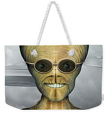 Alien Weekender Tote Bag by James Larkin