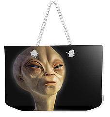 Alien Yearbook Photo Weekender Tote Bag by Gary Warnimont