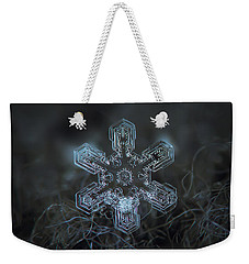 Snowflake Photo - Alioth Weekender Tote Bag by Alexey Kljatov